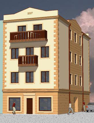 Projekt budynku mieszkalno – usługowego przy ul. Mickiewicza w Kamiennej Górze